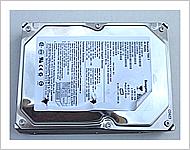 加圧変形後のハードディスク表面