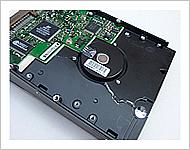 加圧変形後のハードディスク後側