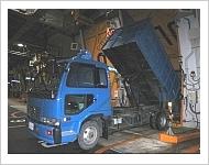 焼却処理施設のバンカー